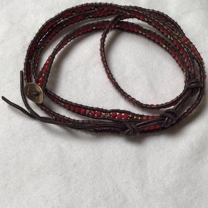 Authentic Chan Luu leather 5x wrap bracelet